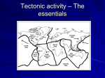 Tectonic activity – The essentials