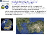 Magnitude 5.7 Earthquake, Aegean Sea Tuesday, 8 th January