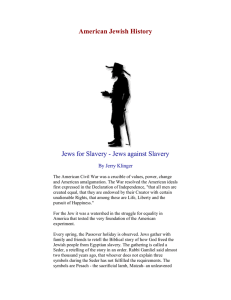 Slavery - Jewish American Society for Historic Preservation