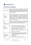 Marketing Manager Position Description