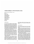 Artificial intelligence in office information systems