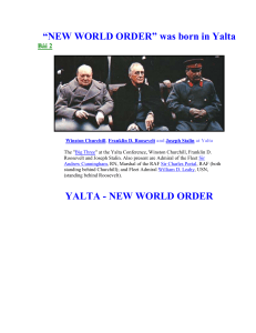 """NEW WORLD ORDER"" was born in Yalta"