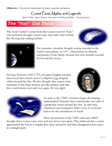 Comet Facts, Myths, and Legends