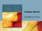 Chapter 11: Modeling Money