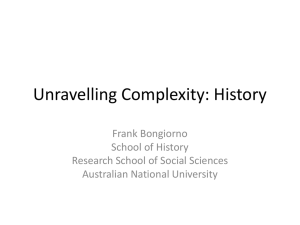 Unravelling Complexity: History
