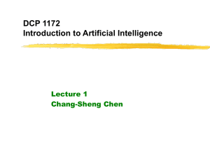 DCP 1172: Introduction to Artificial Intelligence