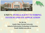 unit v: intelligent tutoring system and its application