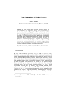 Three Conceptions of Musical Distance