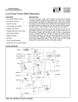 Low Power Pulse Width Modulator