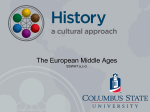 European Middle Ages - A Cultural Approach