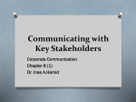 Communicating with stakeholders – customer