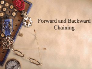 Forward and Backward Chaining