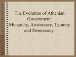 The Evolution of Athenian Government