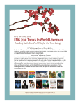 ENG 3130 Topics in World Literature