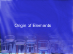 Origin of Elements - Madison Public Schools
