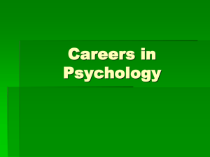 Careers in Psychology - West Ada School District