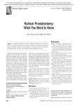 Radical Prostatectomy: What You Need to Know