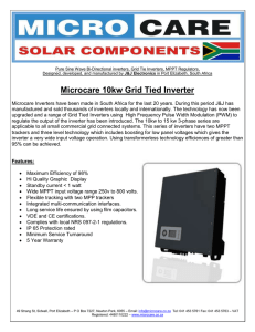 Microcare 10kw Grid Tied Inverter
