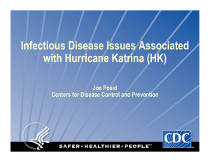 Infectious Disease Issues Associated with Hurricane Katrina (HK)