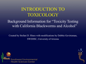 Chemicals and Human Health - virtualpharmtox.pharmacy.arizona.edu
