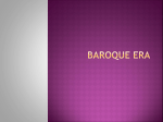 Baroque Era - Fall2011TechProject