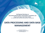 Data processing and data base management systems used At