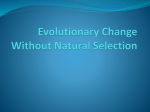 8.1 Natural Selection
