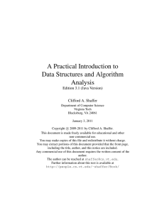 A Practical Introduction to Data Structures and Algorithm
