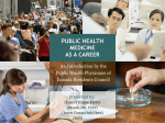 public health medicine as a career
