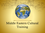 Middle Eastern Cultural Training