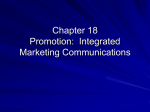 Promotion: Integrated Marketing Communications
