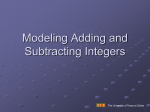 Modeling Addition and Subtraction of Integers