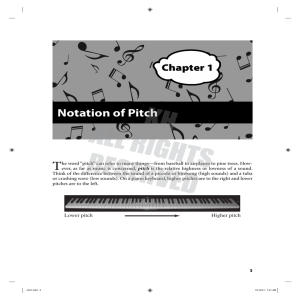 Notation of Pitch - Kendall/Hunt Higher Education