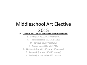 unit one classical art review