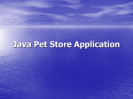 Java Pet Store Application