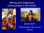 Mining and Indigenous Communities