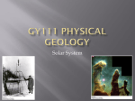 GY111 Physical Geology