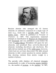Russian chemist who arranged the 63 known elements (A