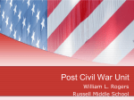 Post Civil War Unit - James S. Russell Middle School