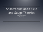 Field and gauge theories