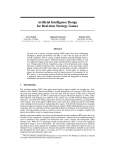 Artificial Intelligence Design for Real