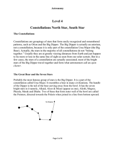 Level 4 Constellations North Star, South Star