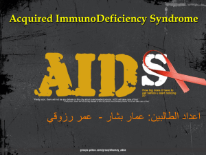 Acquired immunodeficiency syndrome is a disease of the human
