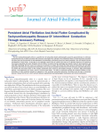 Persistent Atrial Fibrillation And Atrial Flutter Complicated By