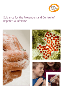 Guidance for the Prevention and Control of Hepatitis A Infection