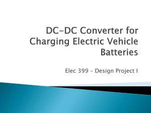 DC-DC Converter for Charging Electric Vehicle