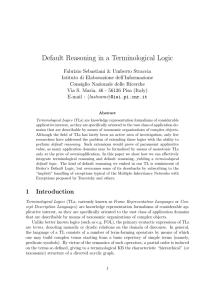 Default Reasoning in a Terminological Logic