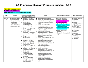 AP European History Curriculum Map