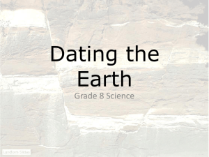 Dating the Earth Power Point