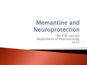 Memantine and Neuroprotection